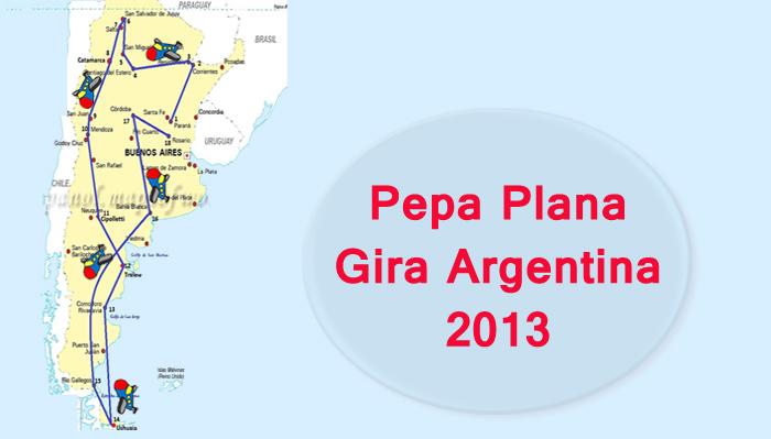 Pepa Plana mapa gira Argentina